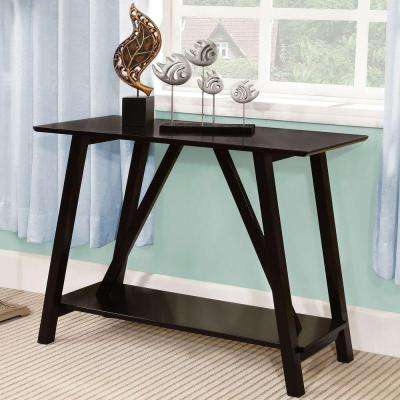 Elgg Black Console Table