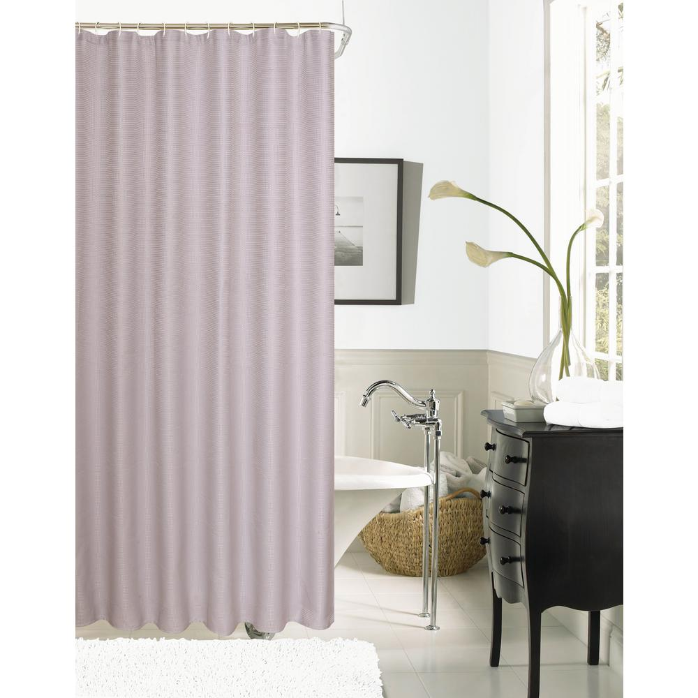 Dainty Home Hotel Collection Waffle 72 In Lilac Shower Curtain HCOWSCLI