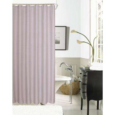 Hotel Collection Waffle 72 in. Lilac Shower Curtain