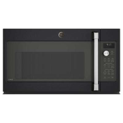 1.7 cu. Ft. Over the Range Convection Microwave in Black Slate, Fingerprint Resistant