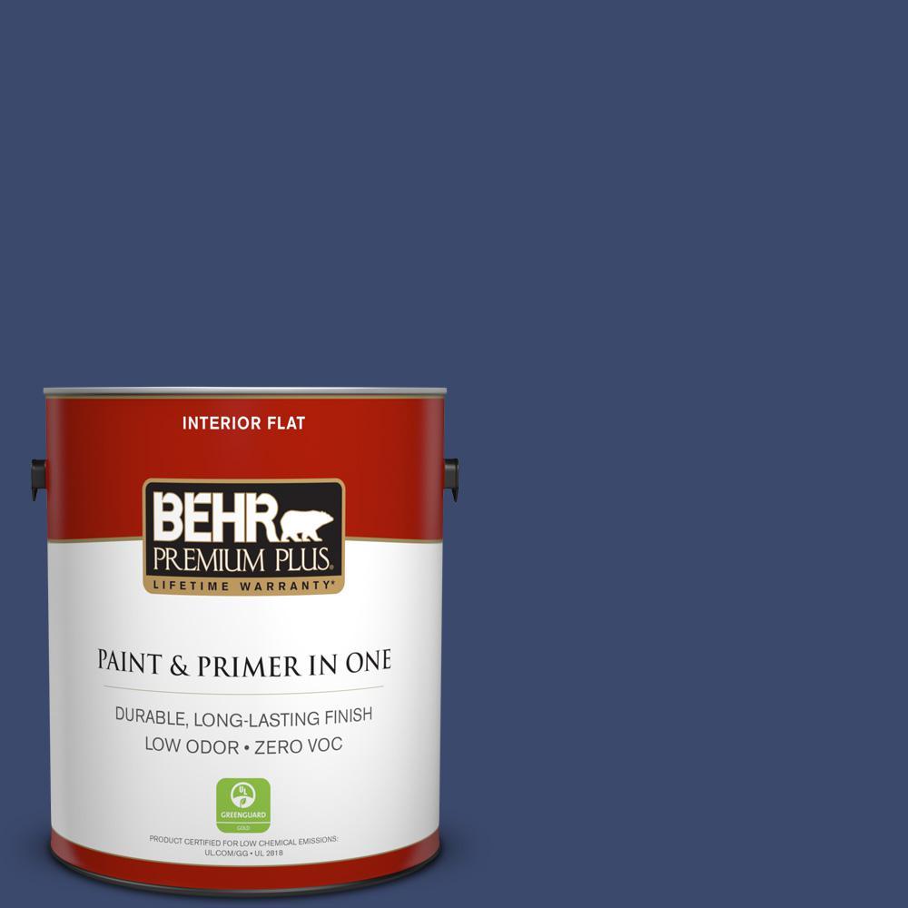BEHR Premium Plus 1-gal. #S-H-610 Mountain Blueberry Zero VOC Flat Interior Paint