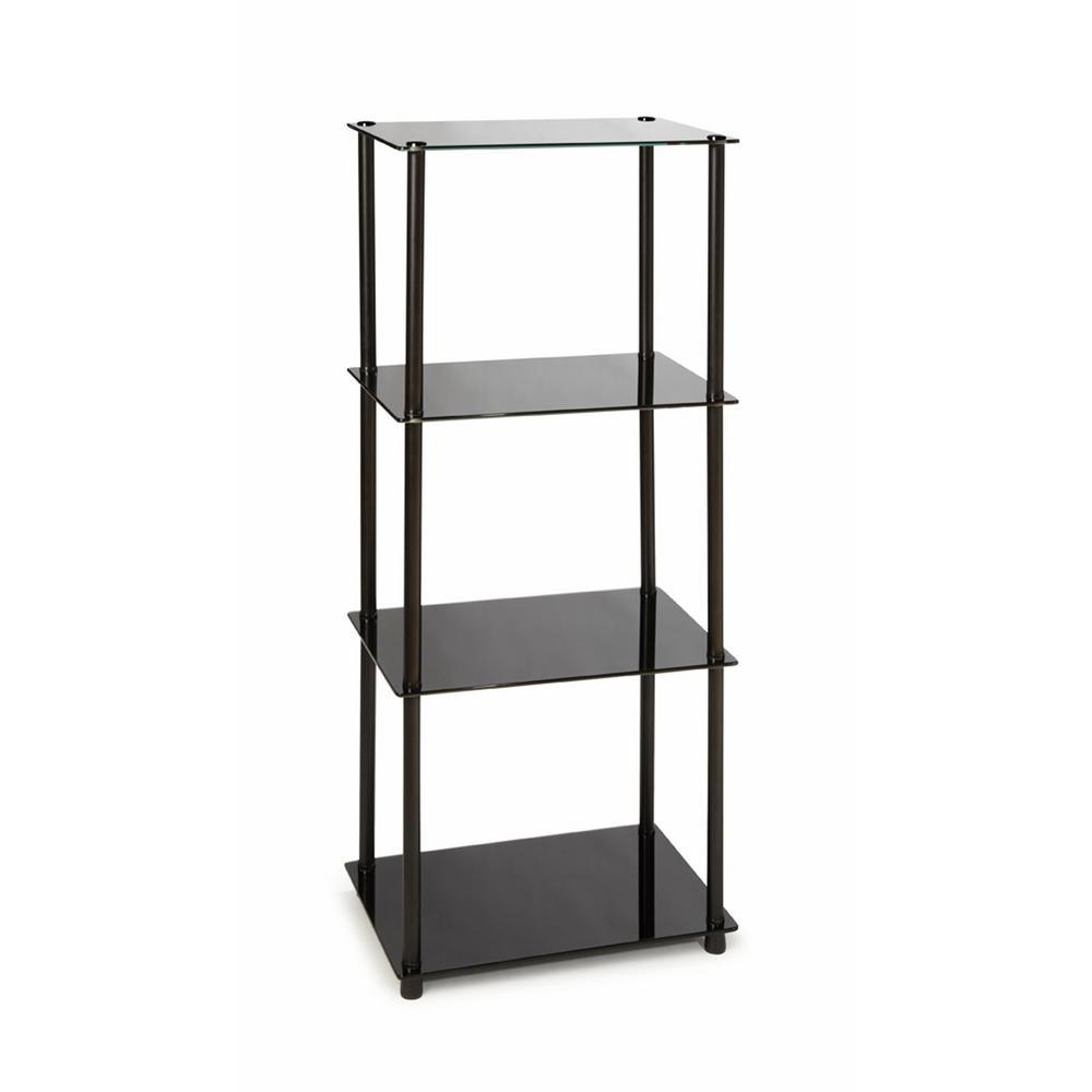 Convenience Concepts Designs2Go Black 4-Tier Tower 157001B