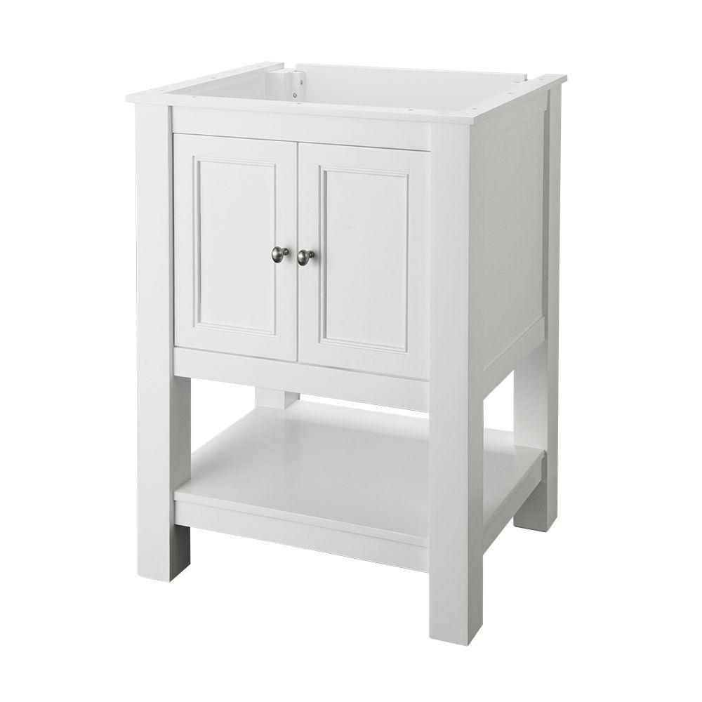 Gazette 24 in. W x 18 in. D Bath Vanity Cabinet Only in White