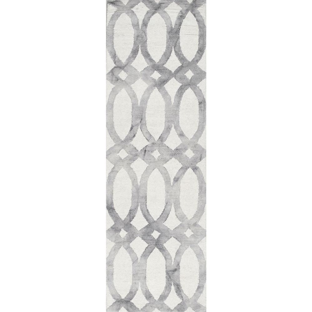 Nellie Light Grey 3 ft. x 8 ft. Runner Rug