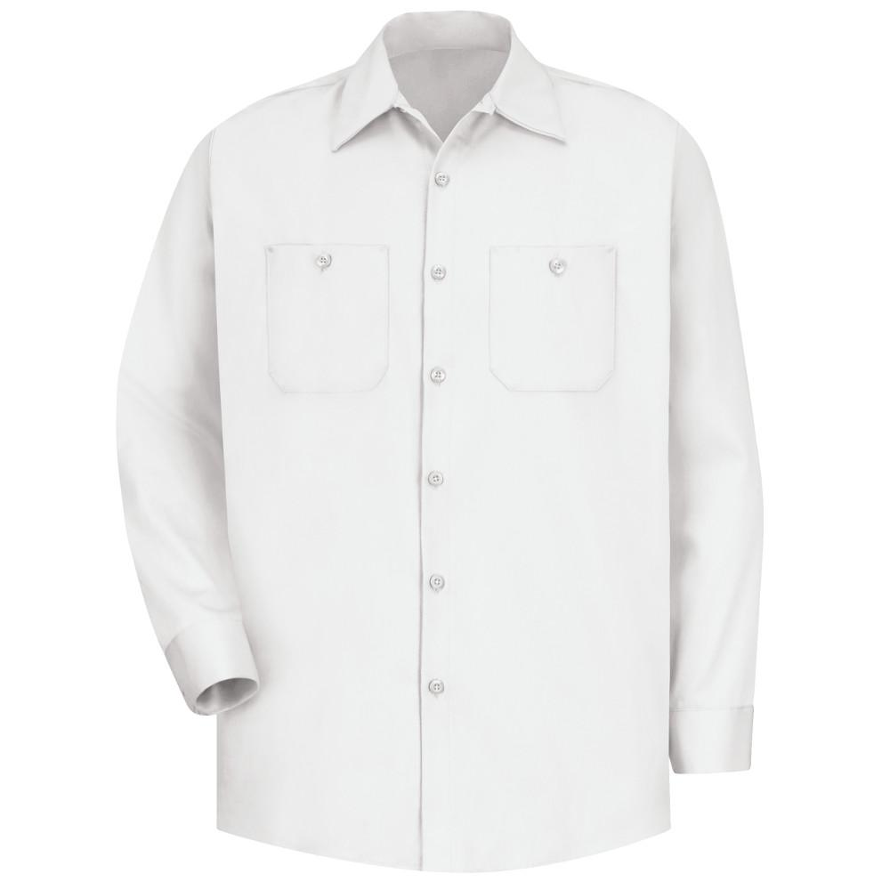 Red Kap Mens Size S White Wrinkle Resistant Cotton Work Shirt