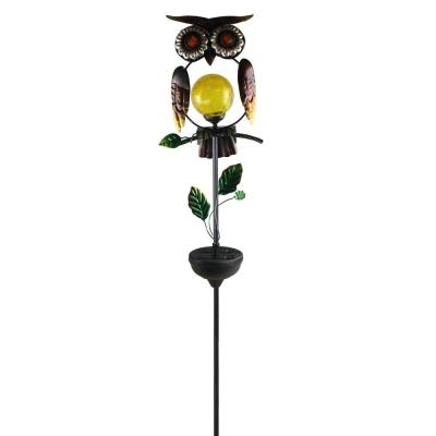 20 in. Solar Integrated LED Owl Pathway Stake Light