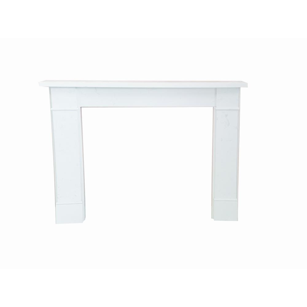 nature and designs Victorian 54 in. x 43 in. Calacatta Engineered Marble Mantel