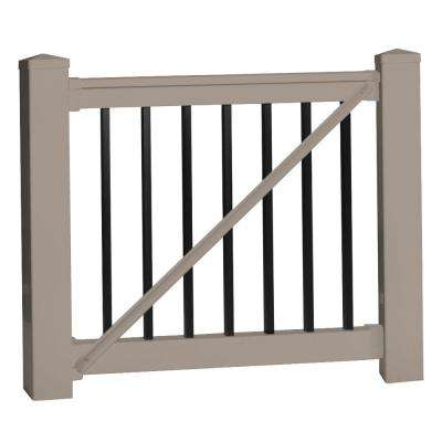 Vilano 36 in. x 60 in. Vinyl Khaki Gate Rail Kit