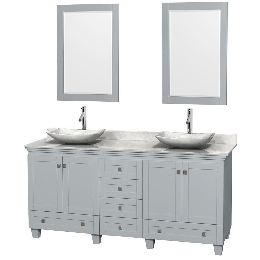 Wyndham Collection Acclaim 72 In W X 22 In D Vanity In Oyster Gray