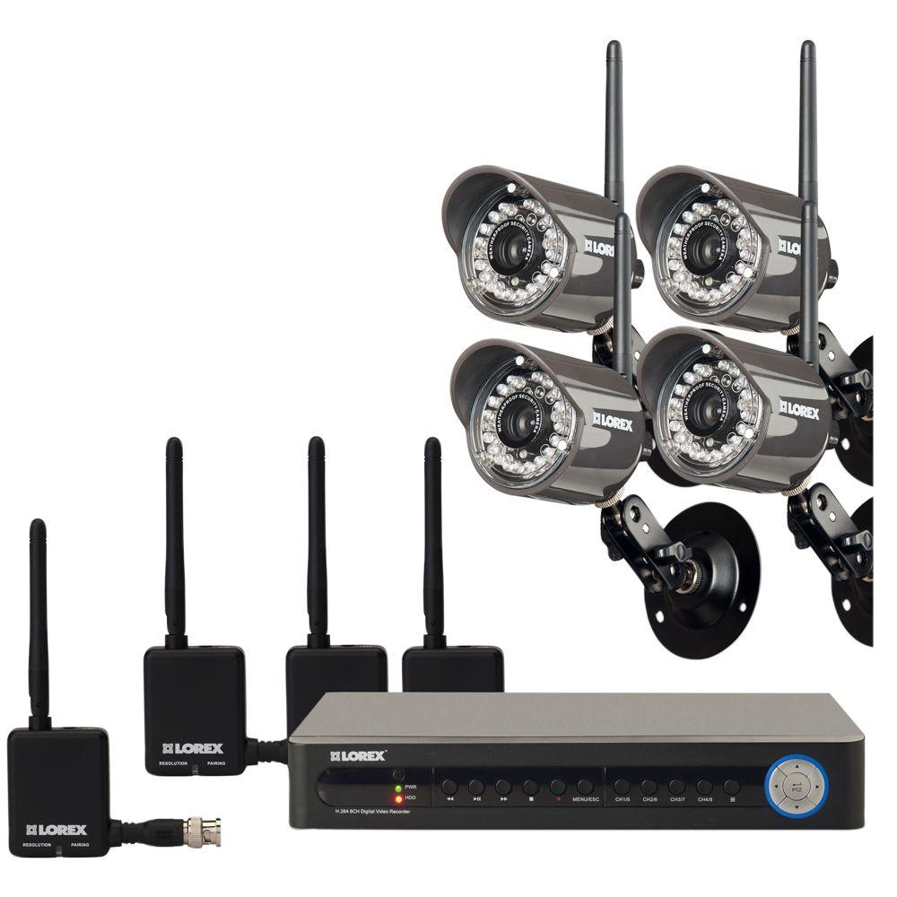 Lorex Eco 8 CH 500 GB Hard Drive Surveillance System with (4) 480 TVL Cameras-DISCONTINUED