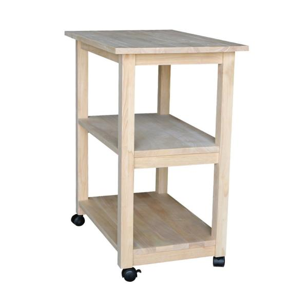 Microwave Cart With Shelves 185