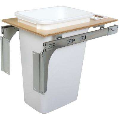 21.63 in. x 14.5 in. x 22.5 in. In Cabinet Pull Out Top Mount Trash Can