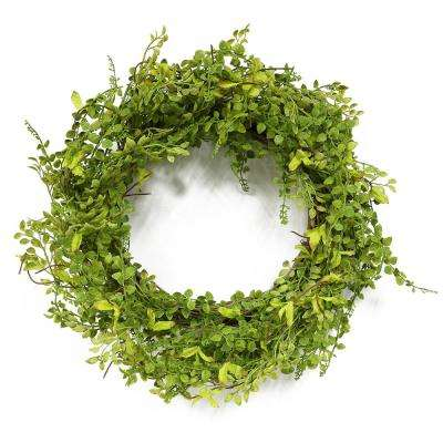 22 in. Wreath with Jasmine Leaf's