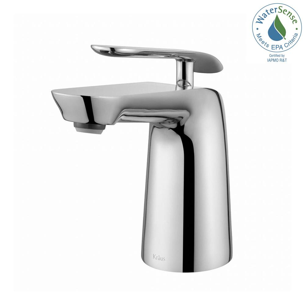 Seda Single Hole Single-Handle Basin Bathroom Faucet in Chrome