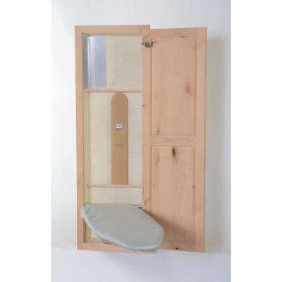 In-Wall Ironing Center Knotty Alder with Shaker Door