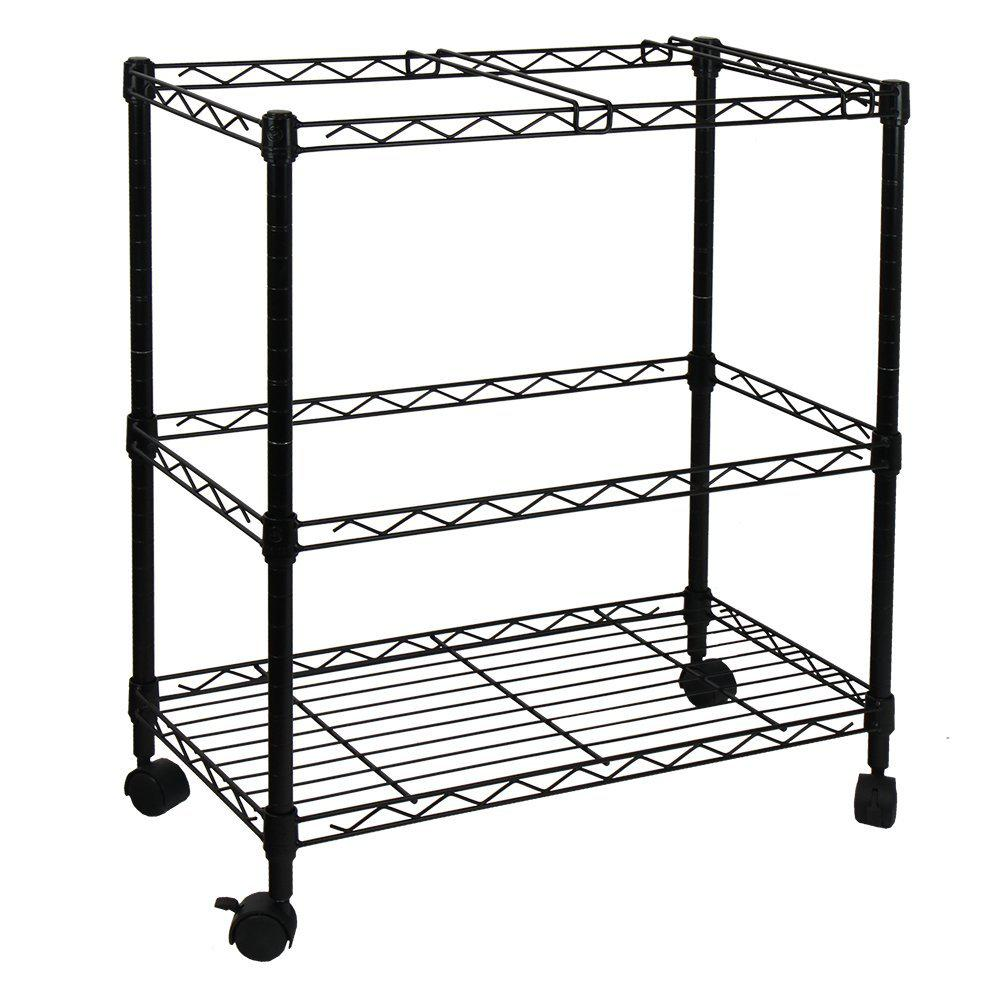 600 x 320 x 700 mm 2-Tier steel Rolling File Cart