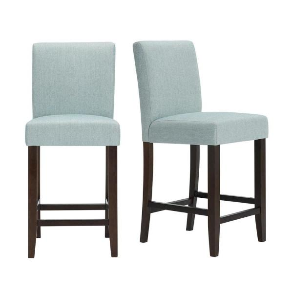 Wood Upholstered Counter Stool