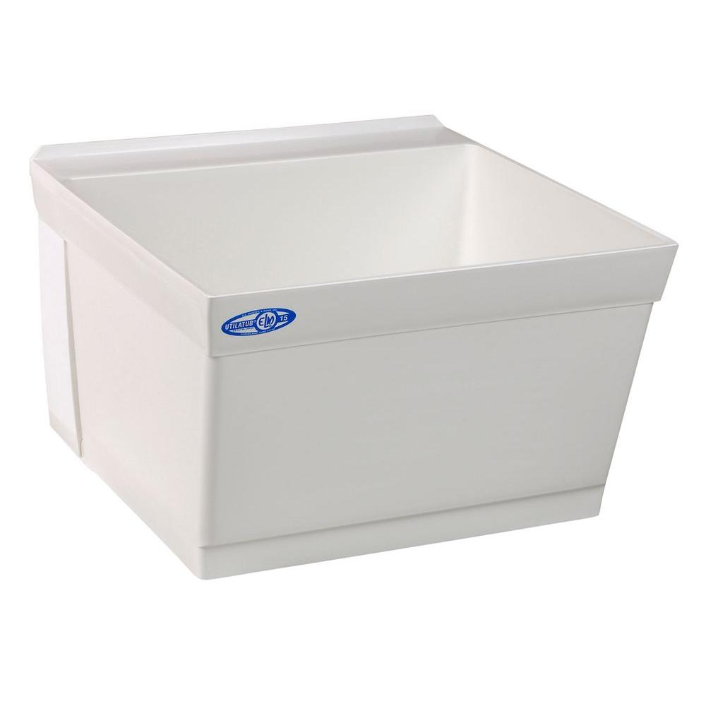 Composite Wall Mount Laundry Tub