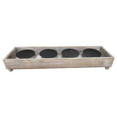 3 in. Wood Candle Holder