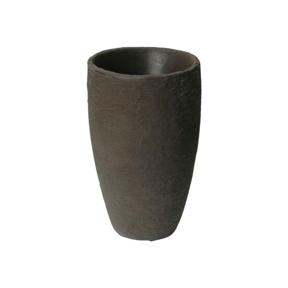 Athena 24.5 in. x 15 in. Brownstone Self-Watering Plastic Planter