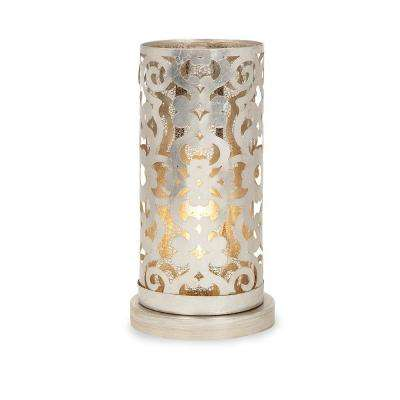 Carys 14 in. Champagne Hurricane Table Lamp