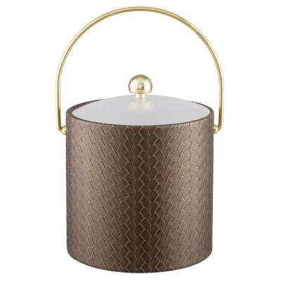 San Remo Antique Gold 3 Qt. Ice Bucket with Bale Handle and Lucite Lid