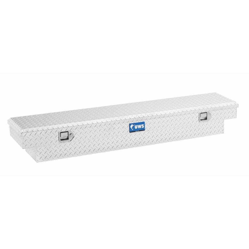 69 in. Aluminum Single Lid Crossover Slim Line Low Profile Deep Tool Box