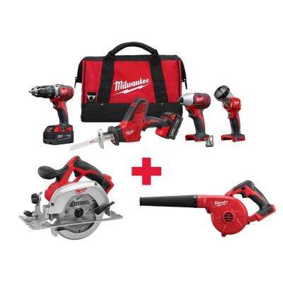 M18 18-Volt Lithium-Ion Cordless Combo Kit (4-Tool) with Free M18 Circ Saw and M18 Blower