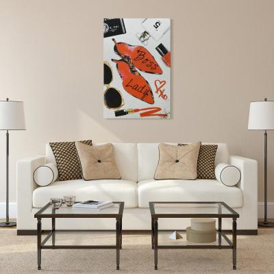 """""""Boss Lady Glitter"""" High Resolution Graphic Art Print on Wrapped Canvas Wall Art"""
