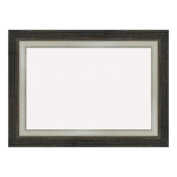 Amanti Art Brushed Metallic Wood Framed White Cork Memo Board DSW4093092