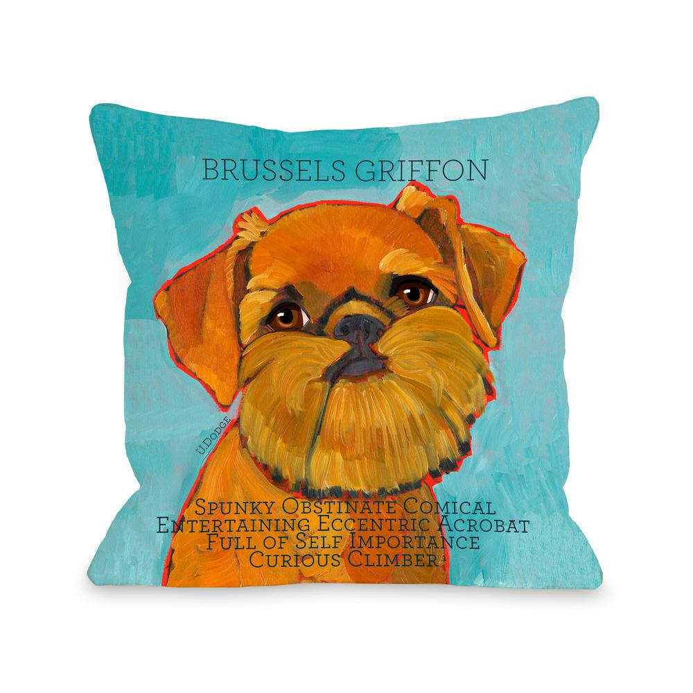 Unbranded Brussels Griffon1 Polyester Standard Throw Pillow 70181pl16 The Home Depot