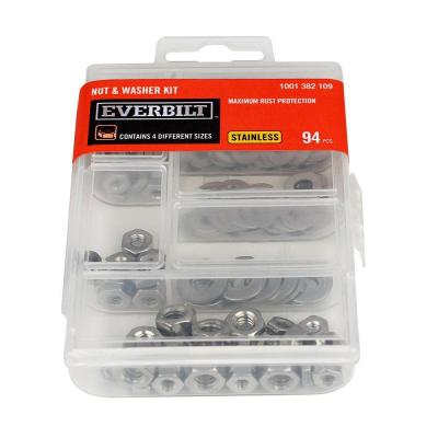 94-Piece Stainless Steel Nut and Washer Kit