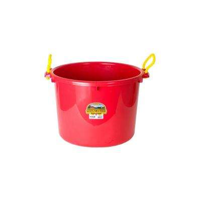 70 qt. Plastic Red Muck Bucket