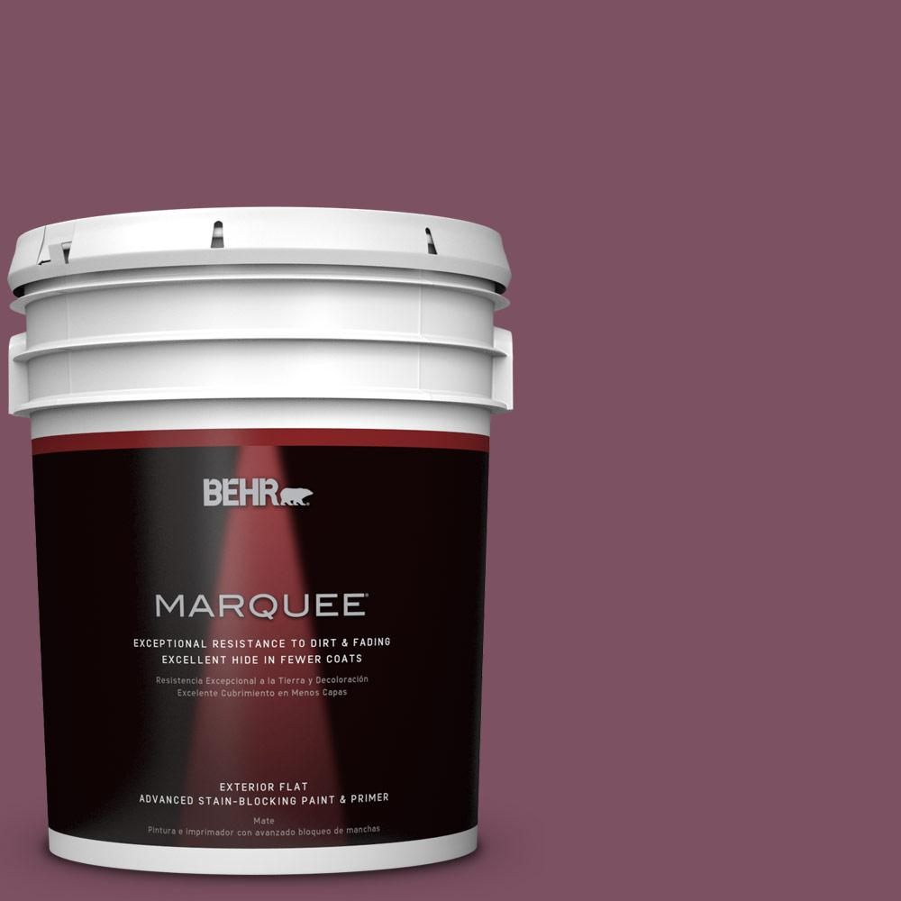 5-gal. #PPU1-19 Classic Berry Flat Exterior Paint