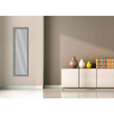 51.875 in. x 15.875 in. Stainless Silver Framed Mirror