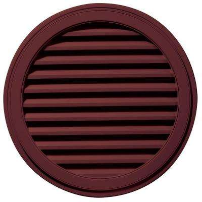 36 in. Round Gable Vent in Wineberry