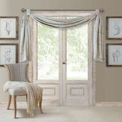Darla 144 in. W x 52 in. L Polyester Single Blackout Window Valance in Sand