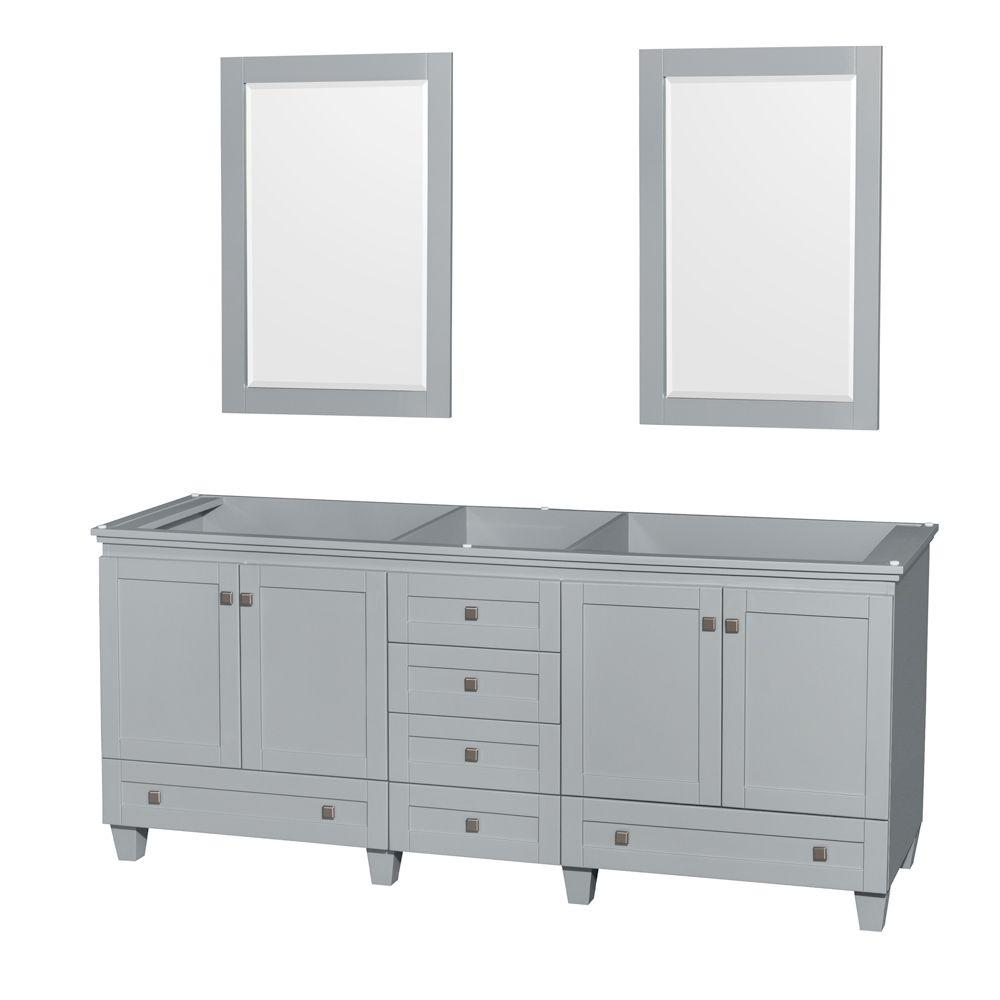 Wyndham Collection Acclaim 80 In Vanity Cabinet With Mirror Oyster Gray