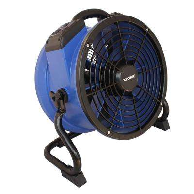 1720 CFM High Temperature 13 in. Variable Speed Sealed Motor Professional Industrial Axial Fan with Power Outlets