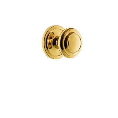Circulaire Rosette 2-3/8 in. Backset Polished Brass Passage Hall/Closet with Circulaire Door Knob
