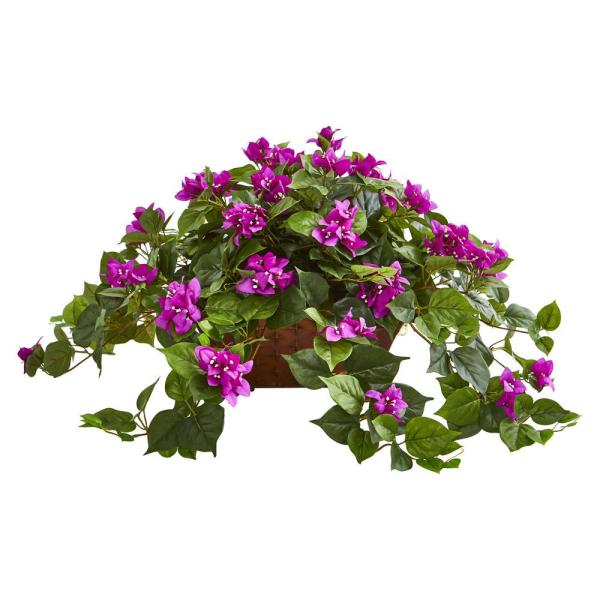 Nearly Natural Indoor Bougainvillea Artificial Plant in Basket 8374