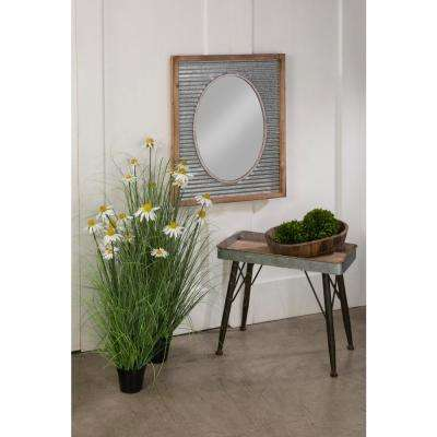 Corrugated Wall Mirror
