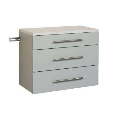 HangUps Collection 24 in. H x 30 in. W x 16 in. D Base Wall Mounted Cabinet in Light Gray