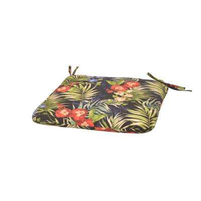 Luella Tropical Trapezoid Outdoor Seat Cushion