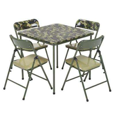 Kids 5-Piece Camo Vinyl Set with Green Frame