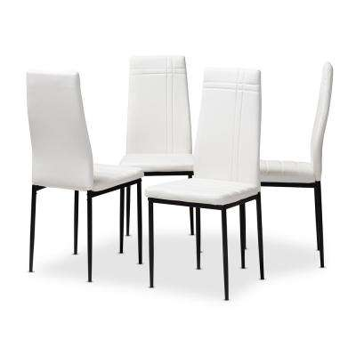 Matiese White Faux Leather Upholstered Dining Chair