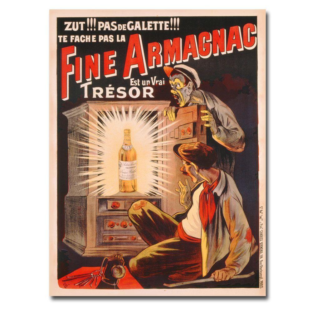 Trademark Fine Art 22 in. x 32 in. Est Une Vrai Tresor - Brandy 1910 Canvas Art