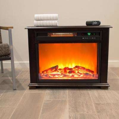 Quakerstown Series 29 in. Freestanding Electric Fireplace with Remote in Dark Oak Stain