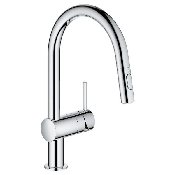 Minta Single-Handle Dual Spray Pull-Out Sprayer Kitchen Faucet 1.75 GPM in StarLight Chrome
