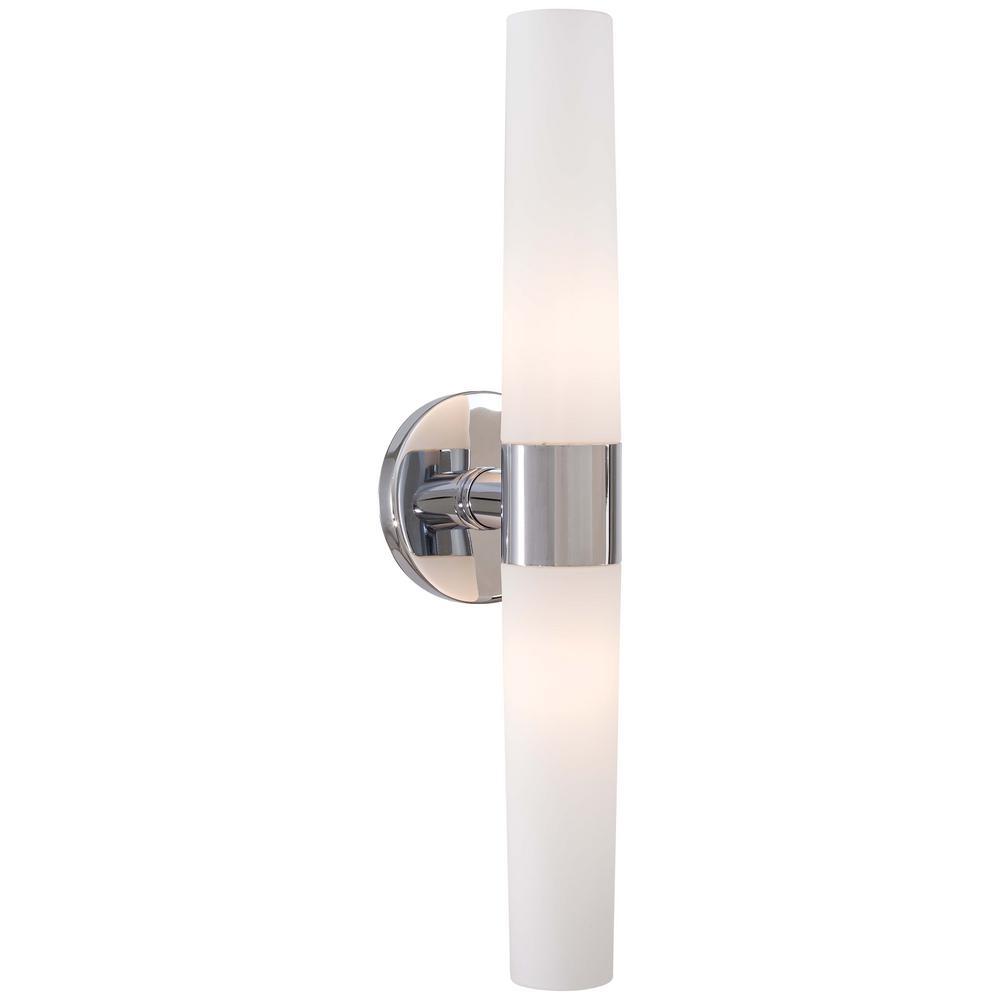 Saber 2-Light Chrome Bath Light